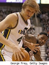 Andrei Kirilenko and LeBron James