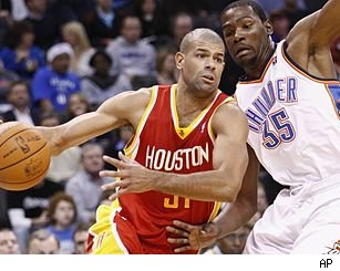 Shane Battier and Kevin Durant