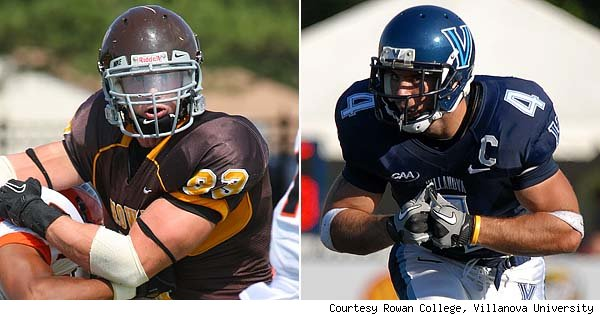 Matt Hoffman of Rowan College and Matt Szczur of Villanova