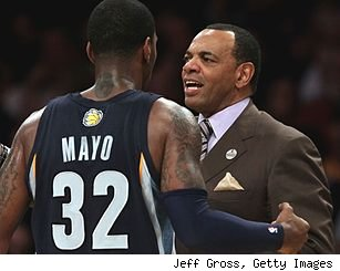 O.J. Mayo and Lionel Hollins