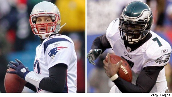 Tom Brady and Michael Vick