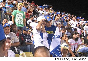 Venezuelan baseball fans