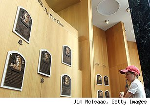 Hall of Fame plaques in Cooperstown