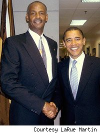 LaRue Martin and President Obama