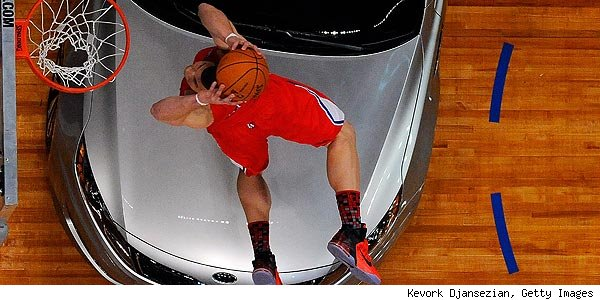 Blake Griffin Dunks Over Car