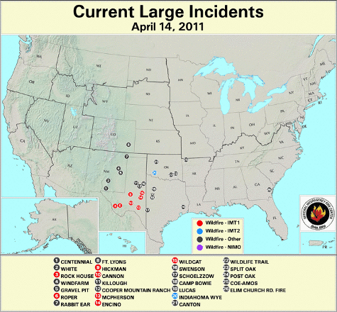 Current wildfire incidents