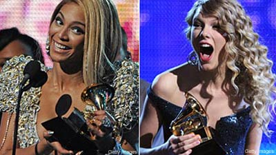 Grammy Winners Beyonce Taylor Swift