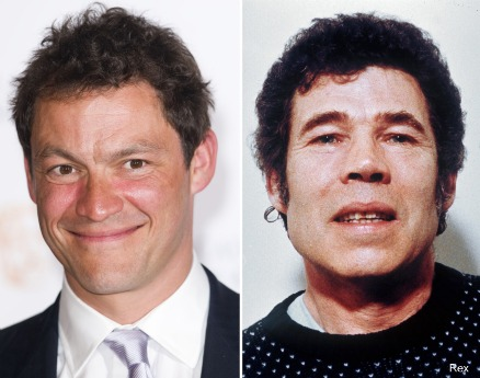 Dominic West next to his murderous namesake Fred West (no relation).