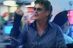 David Hasselhoff at Heathrow