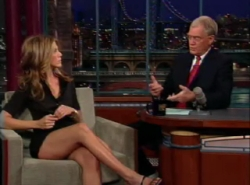 jennifer aniston; david letterman