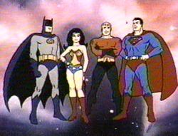 The Superfriends, watching a game, drinking a bud