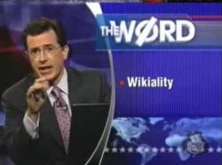 Stephen Colbert talks about 