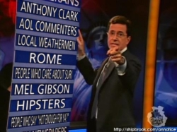 Joel's Stephen Colbert On Notice List