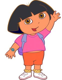 The large headed Dora the Explorer