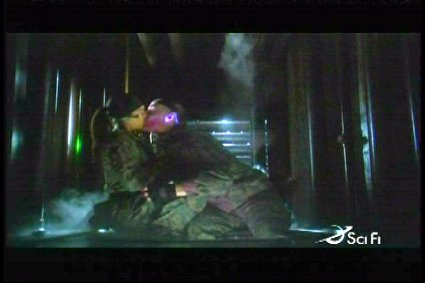 Taggart and Jo make out in the bowels of Eureka
