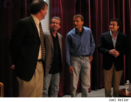 Robert Thompson, Mike Scully, Phil Rosenthal, and Mitch Hurwitz