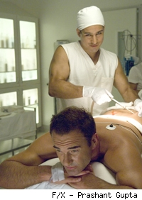 Julian McMahon and Mario Lopez