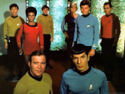 The crew of the original Star Trek