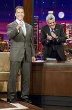 arnold schwarzenegger; jay leno