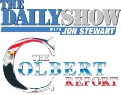 The Daily Show and The Colbert Report logos