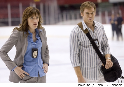 Jennifer Carpenter and Michael C. Hall star in Dexter.