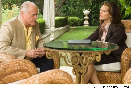Larry Hagman and Brooke Shields guest star in Nip/Tuck.