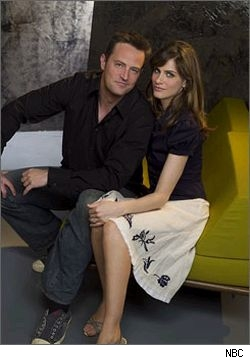 Matthew Perry and Amanda Peet of Studio 60