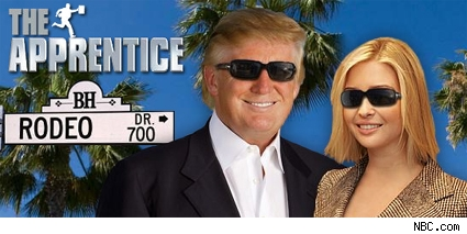 The Donald and his daughter Ivanka flip on their shades for the new season of 'The Apprentice,' which moves to L.A. on January 7.