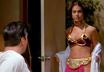 jennifer aniston in a gold bikini making the world a better place
