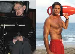 david hasselhoff; stephen hawking