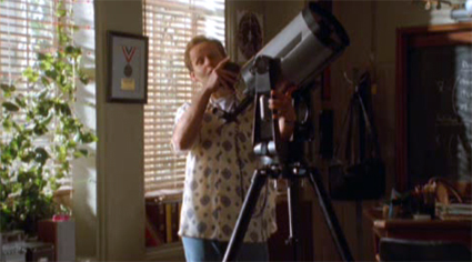 Larry and his telescope.