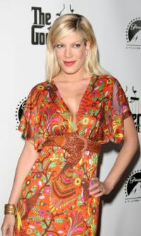Tori Spelling at Godfather DVD Premiere