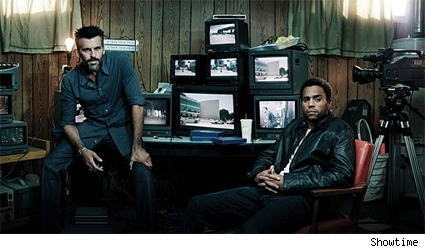 Oded Fehr as Farik and Michael Ealy as Darwyn in 'Sleeper Cell.'