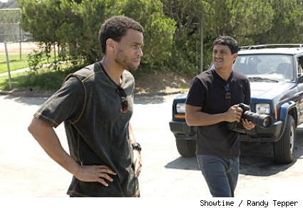 Michael Ealy as Darwyn and Said Taghmaoui as Karrar in 'Sleeper Cell.'