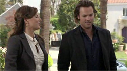 Krista Allen and Barry Watson in 'What About Brian.'