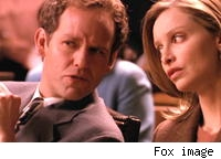 Peter MacNicol and Calista Flockhart on Ally McBeal