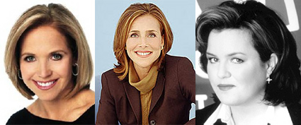 katie couric; meredith vieira; rosie o'donnell