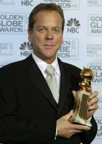 Kiefer Sutherland, after winning best actor at the 2002 Globes.
