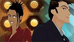 The Doctor and Martha get animated