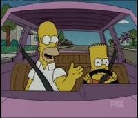 Bart Simpson is a licensed driver.