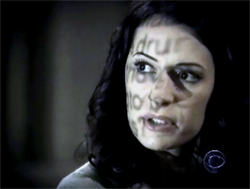 Paget Brewster as Agent Emily Prentiss on Criminal Minds.