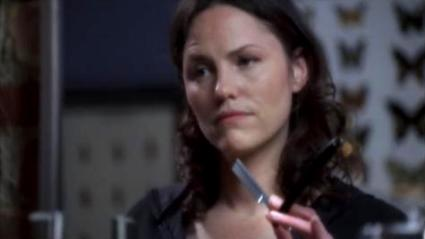 Jorja Fox as Sara Sidle on CSI.