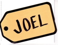 Joel's Price name tag