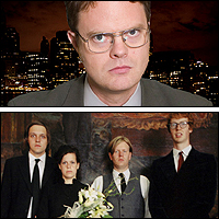 Rainn Wilson and Arcade Fire