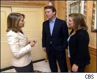 Katie Couric with John and Elizabeth Edwards
