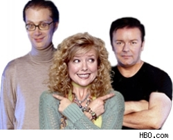 Stephen Merchant, Ashley Jensen, Ricky Gervais
