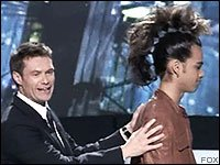 Sanjaya looks like a Mohawk