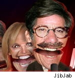 Katie Couric and Geraldo Rivera on JibJab video