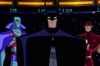 That guy standing behind Batman who isn't Flash? He's Martian Manhunter and he's a bad ass. No, really...