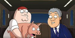 peter griffin and bill clinton from family guy